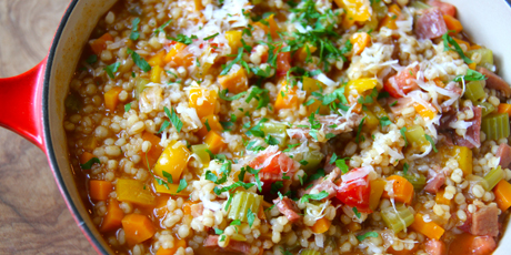 Ham and Barley Risotto