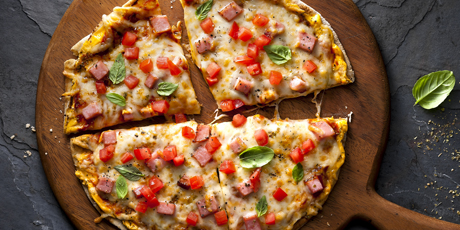 Ham & Cheese Pita Pizza