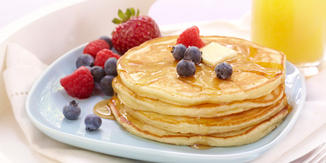 Homestyle Pancakes with Fresh Berries
