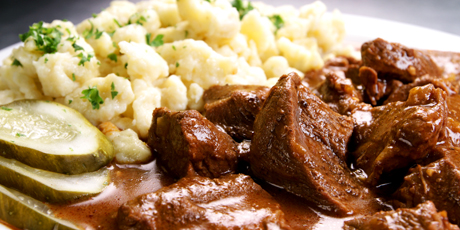 Hungarian Goulash From The Black Forest Inn Recipes Food Network Canada