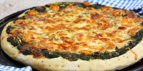 how to make pizza without cheese in hindi