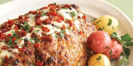 The moistened crumbs add liquid to the meat loaf, keeping it juicy ...