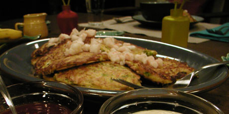 Japanese Pizza Pancakes