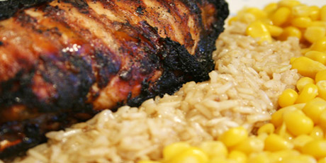 Jerk chicken with brown rice recipes food network canada jerk chicken with brown rice forumfinder Gallery