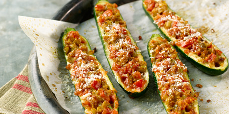 Kellogg S Stuffed Zucchini Boats Recipes Food Network Canada