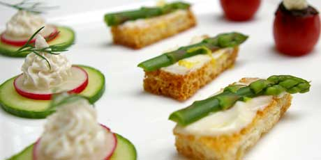 Kitschy canap s recipes food network canada for French canape ideas