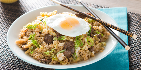 Korean Beef Fried Rice Recipes Food Network Canada