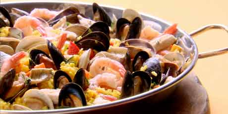 Lakeside paella recipes food network canada lakeside paella forumfinder Image collections