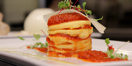 Layered Omelette with Parmesan & Herbs