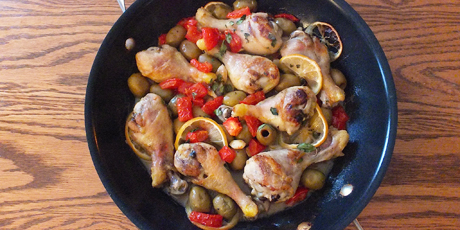 Lemon chicken with olives recipes food network canada lemon chicken with olives print recipe forumfinder Image collections