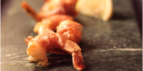 Lemony Prosciutto-Wrapped Shrimp