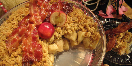 MacIntosh Maple Crumble with Candied Bacon