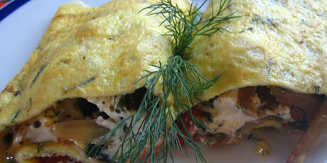 Mediterranean Omelet with Fennel, Olives, Goat Cheese & Herbs Recipes ...