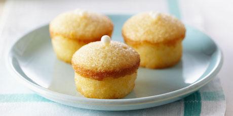 2d69c1687d96 Mini Lemon Chiffon Cakes with Lemon Crystal Glaze Recipes