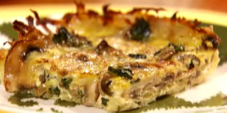 Mushroom and spinach quiche in a potato crust recipes food network mushroom and spinach quiche in a potato crust forumfinder