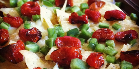 Nachos with Roasted Summer Tomatoes