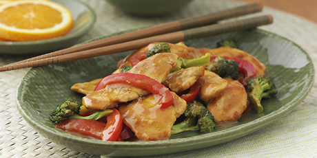 Orange chicken stir fry recipes food network canada orange chicken stir fry print recipe forumfinder Image collections