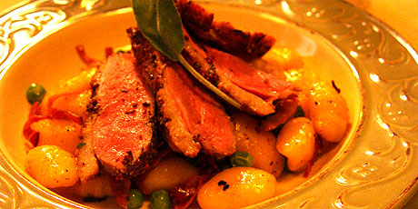 Pan Roast Duck Breasts With Grain Mustard And Gnocchi Recipes Food