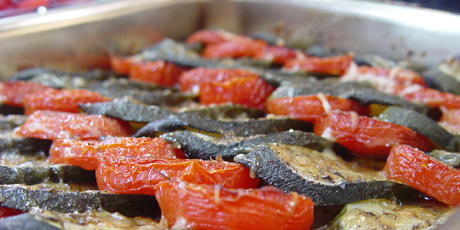Parmesan Baked Zucchini And Tomatoes Recipes Food Network Canada