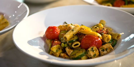 Pasta With Cherry Tomatoes And Fleur D Ail Pistou Recipes Food
