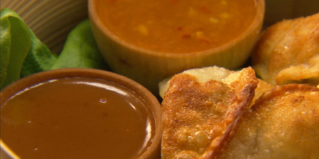 Peanut and Spicy Orange Sauces