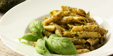 ... be! Penne pasta coated in freshly made basil pesto - serve and share
