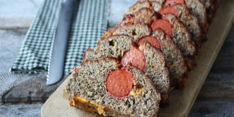 Pepperoni cheddar meatloaf recipes food network canada pepperoni cheddar meatloaf forumfinder Images