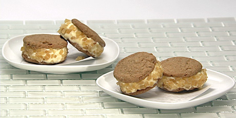 Peppery Gingersnap Ice Cream Sandwiches