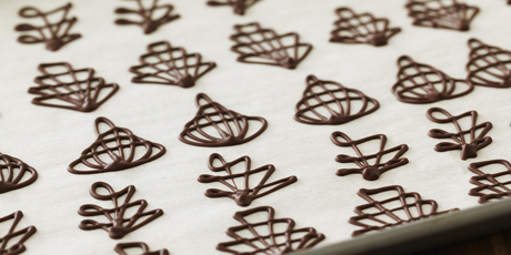 Piped Chocolate Garnishes Recipes