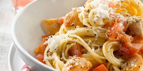 Pomodoro Sauce with Chicken and Linguine