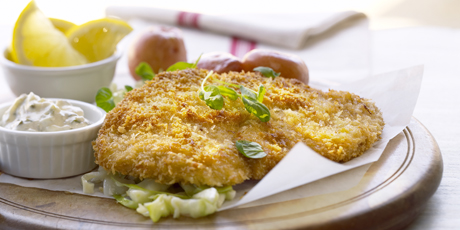 pork chops and pork schnitzel is our german pork schnitzel pork