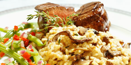 Pork Tenderloin With Cheddar Apple Risotto Recipes Food