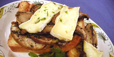 Portobello, Oyster and Cremini Mushrooms on Toast with Brie and Sage ...