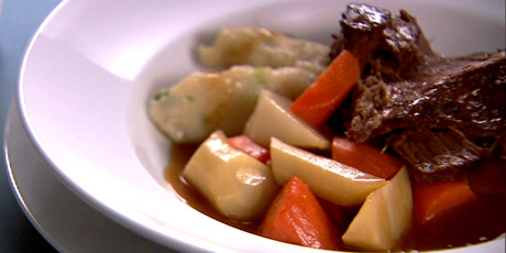 Pot roast with dumplings recipes food network canada pot roast with dumplings forumfinder