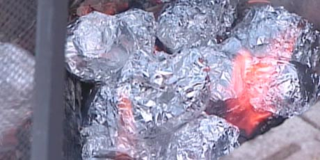 Potatoes Baked in the Coals