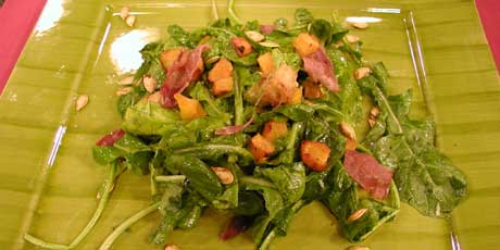 Pumpkin, Arugula and Prosciutto Salad