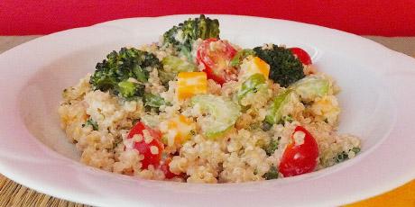 Quinoa salad with creamy tahini dressing recipes food network canada quinoa salad with creamy tahini dressing print recipe forumfinder Choice Image