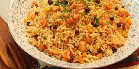Rice, Quinoa & Currant Pilaf