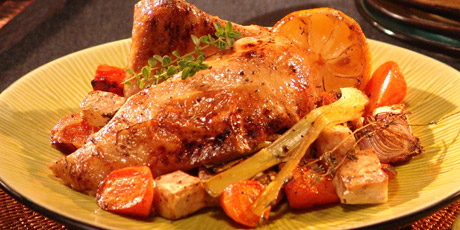 Roast Chicken with Celeriac