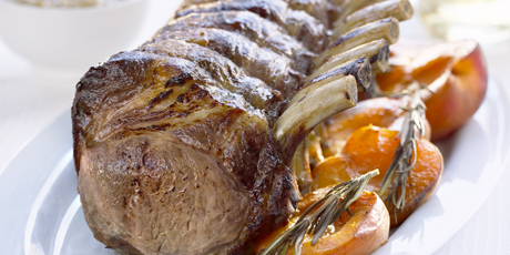Roast Rack of Pork with Rosemary and Goat Cheese