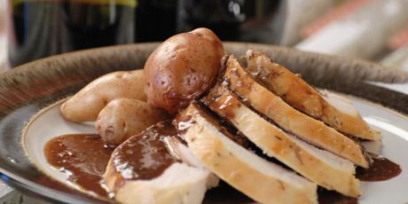 Goat Cheese-Stuffed Pork Tenderloin with Red Wine Balsamic Cherry ...