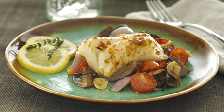 Roasted cod with mushrooms recipes food network canada roasted cod with mushrooms print recipe forumfinder Gallery