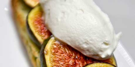 Roasted Figs on Herb Scones with Roquefort Whipped Cream