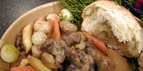 Roasted Venison Stew with Parsnips and Carrots