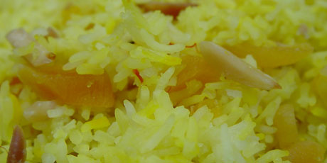 Saffron Almond Rice