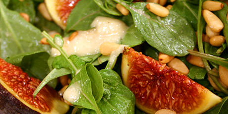 Salad of Arugula, Pinenuts and Figs