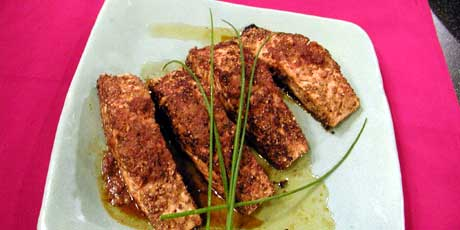 Salmon with Sesame and Lemon Grass