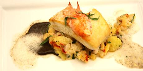 Poached Halibut With Corn Salad Recipes — Dishmaps