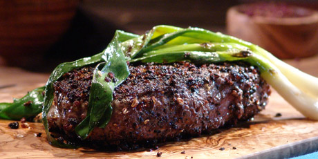 ... peppercorn tenderloin steak tenderloin in a pink sizzling fillet steak