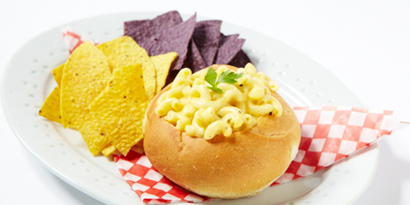 Sloppy Joe & Mac'n Cheese Bread Bowl